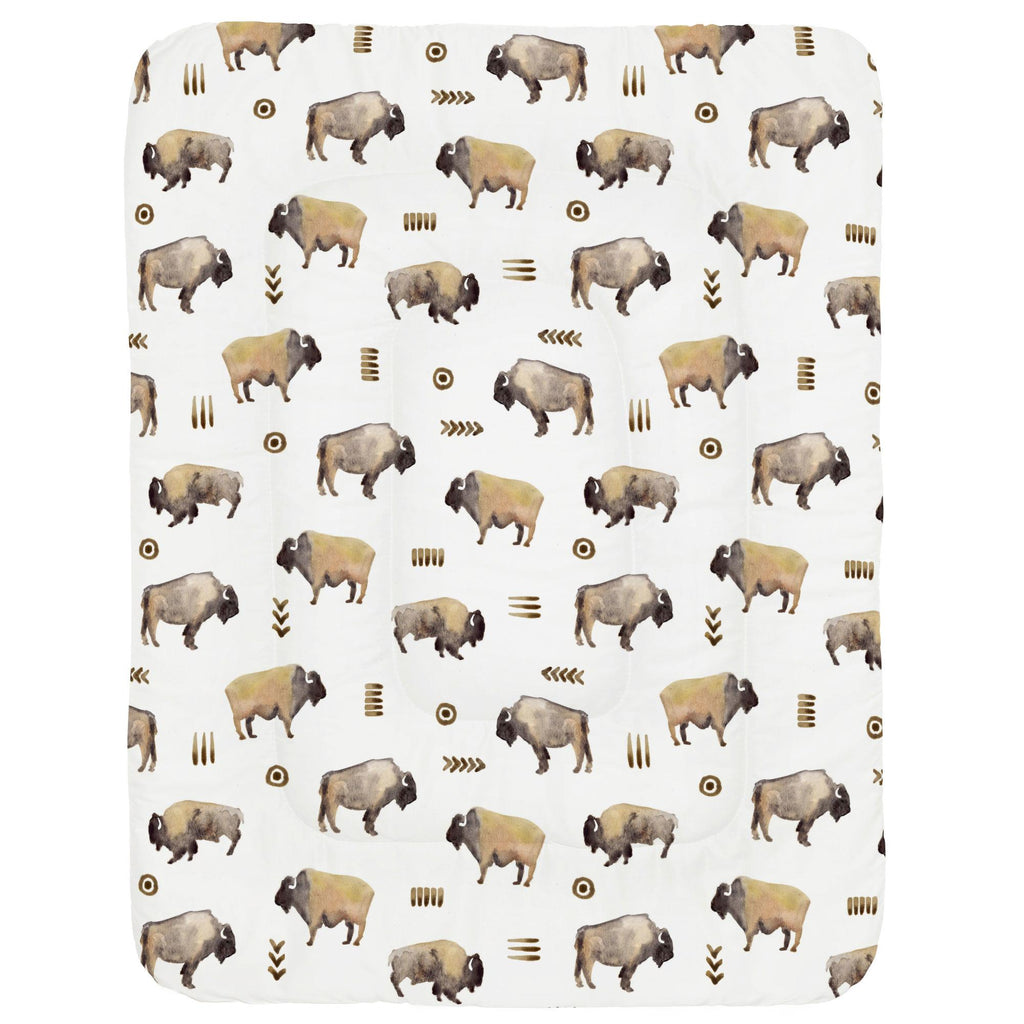 Product image for Watercolor Buffalo Crib Comforter