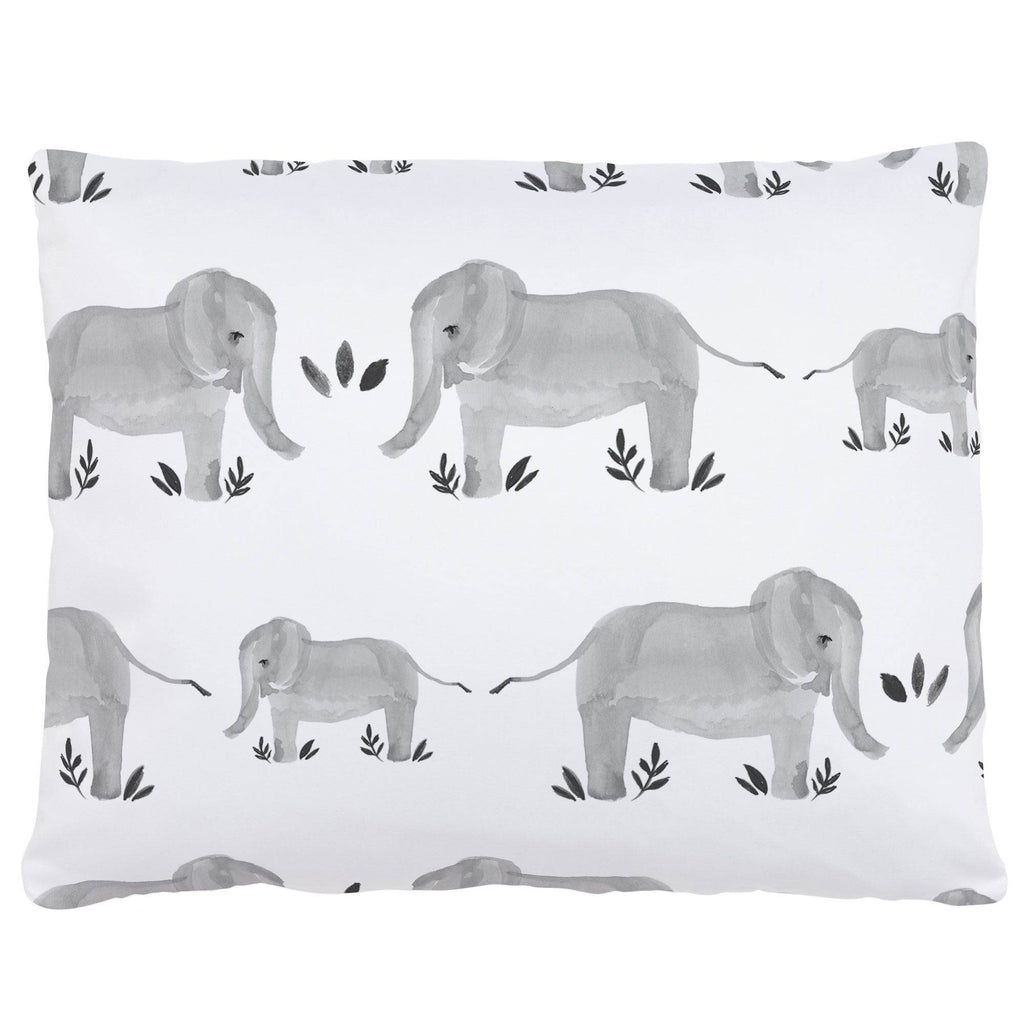 Product image for Gray Painted Elephants Accent Pillow