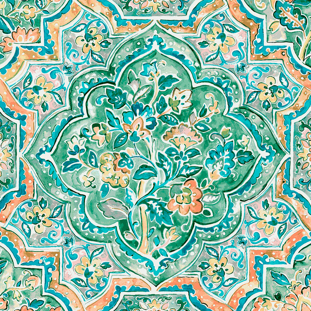 Product image for Watercolor Medallion Fabric