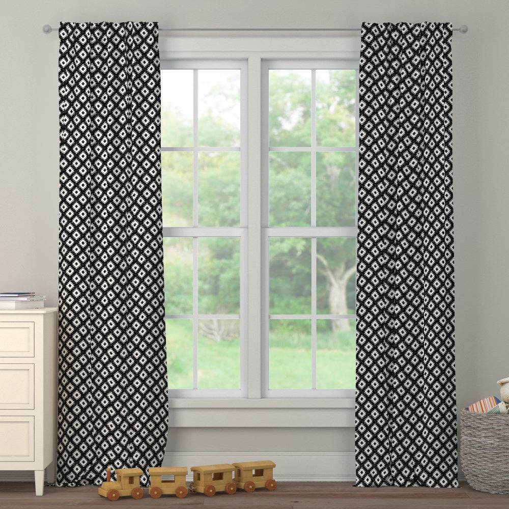Product image for Onyx and White Aztec Drape Panel