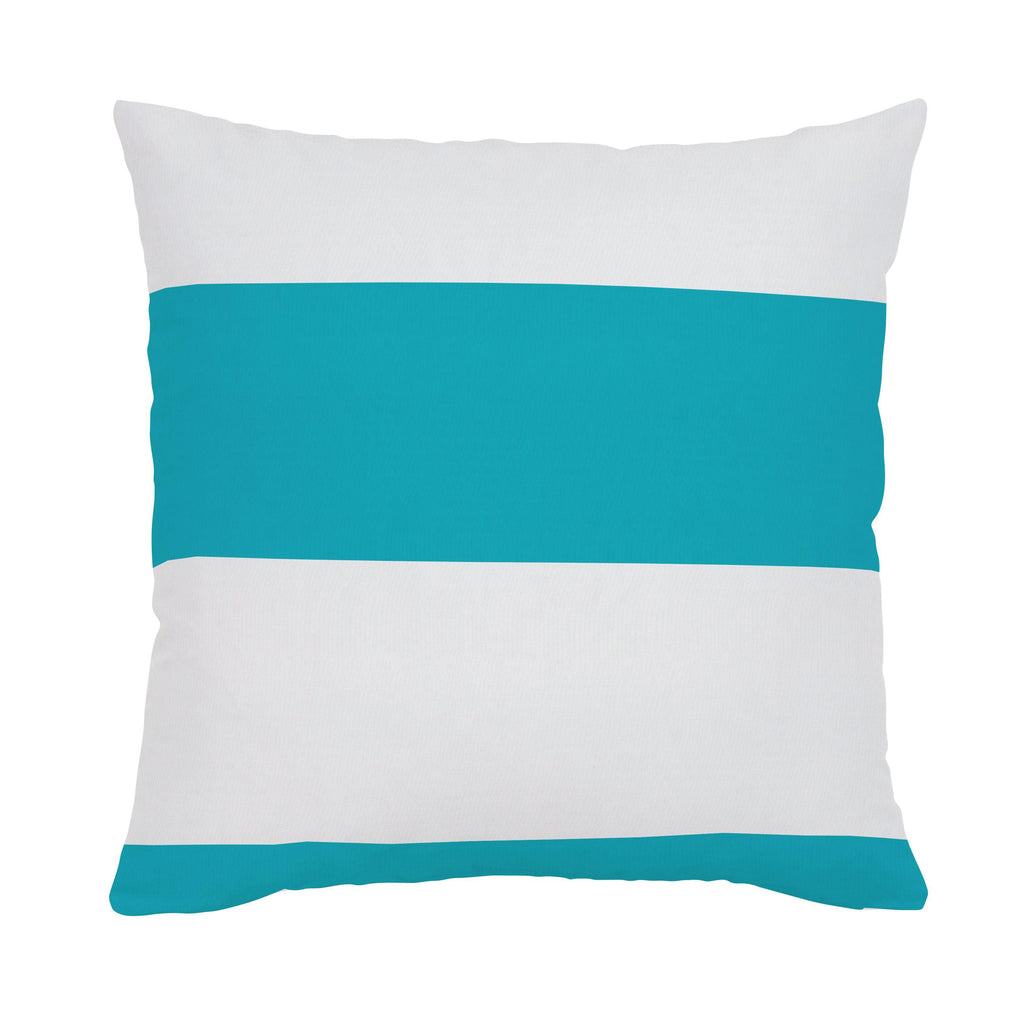 Product image for Teal Horizontal Stripe Throw Pillow