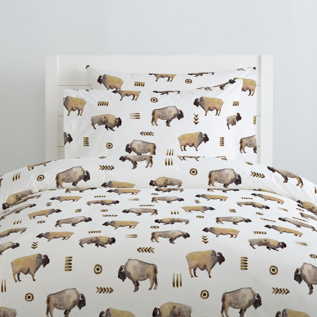 Product image for Watercolor Buffalo Duvet Cover