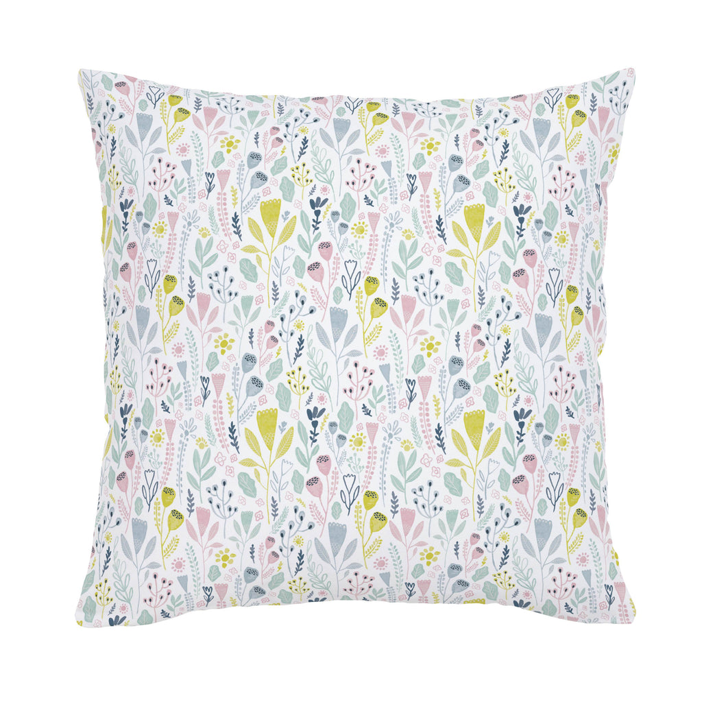 Product image for Pink Woodland Foliage Throw Pillow