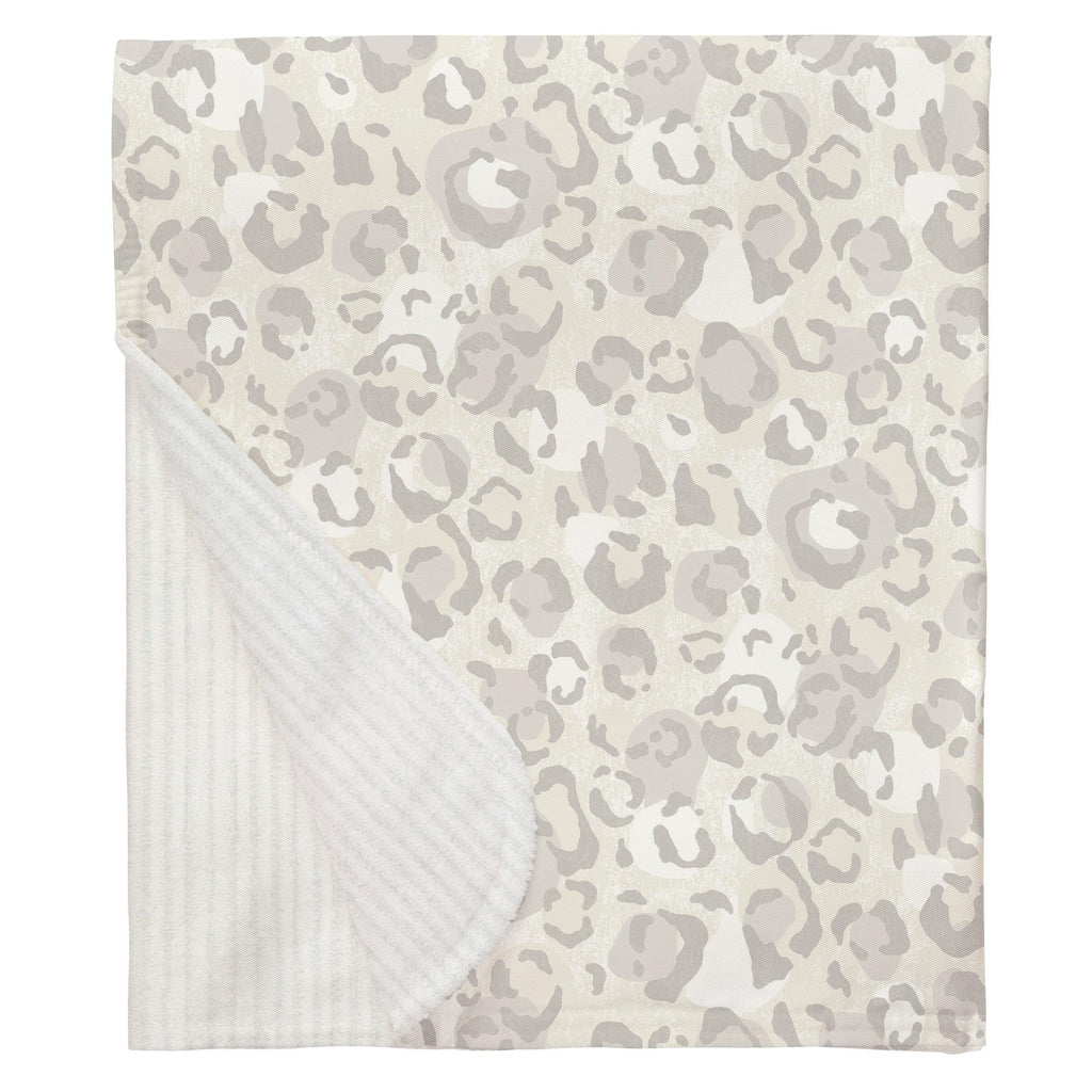 Product image for French Gray Leopard Baby Blanket