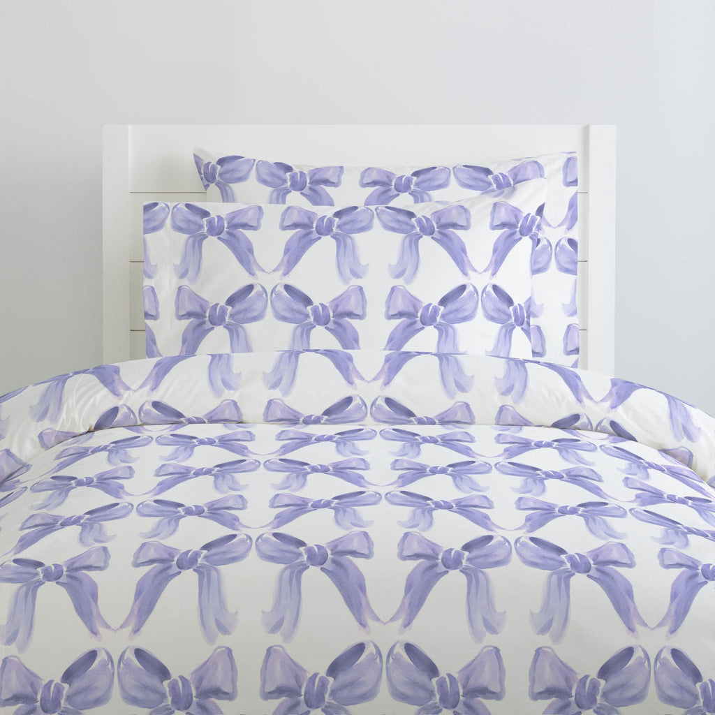 Product image for Lilac Watercolor Bows Duvet Cover