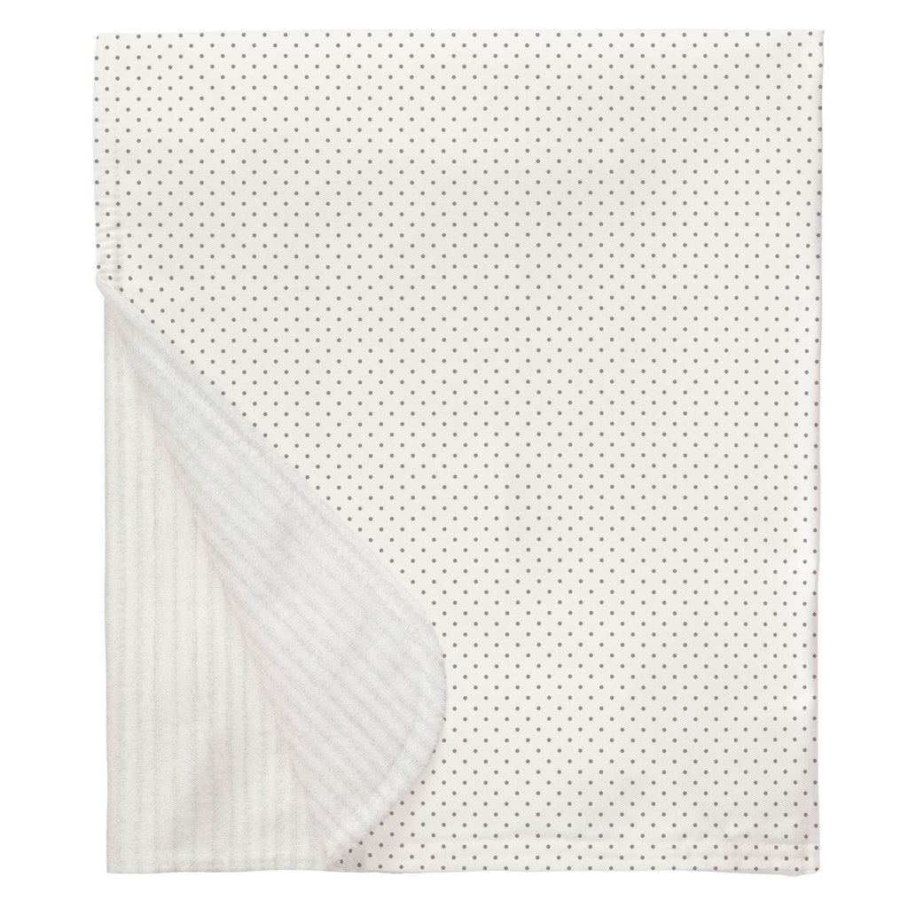 Product image for Cloud Gray Pin Dot Baby Blanket
