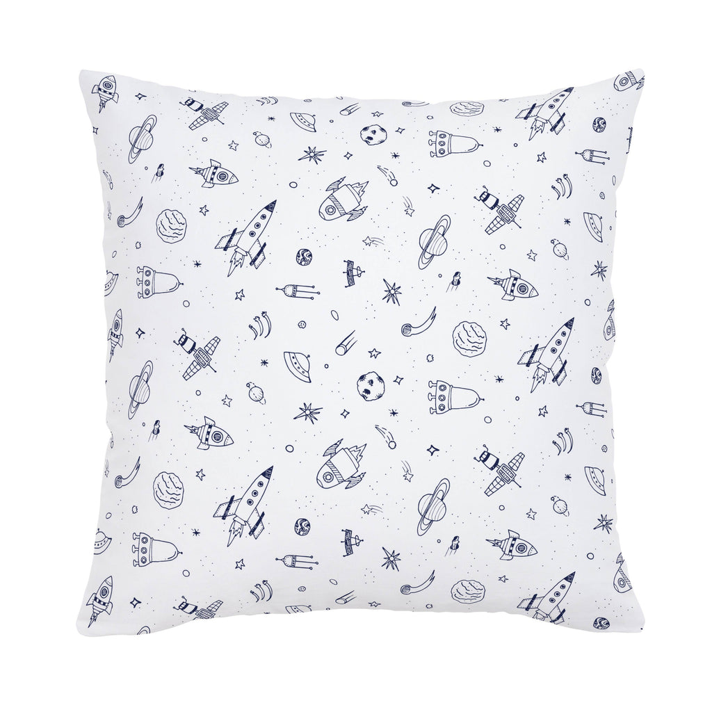 Product image for Windsor Navy and White Rockets Throw Pillow