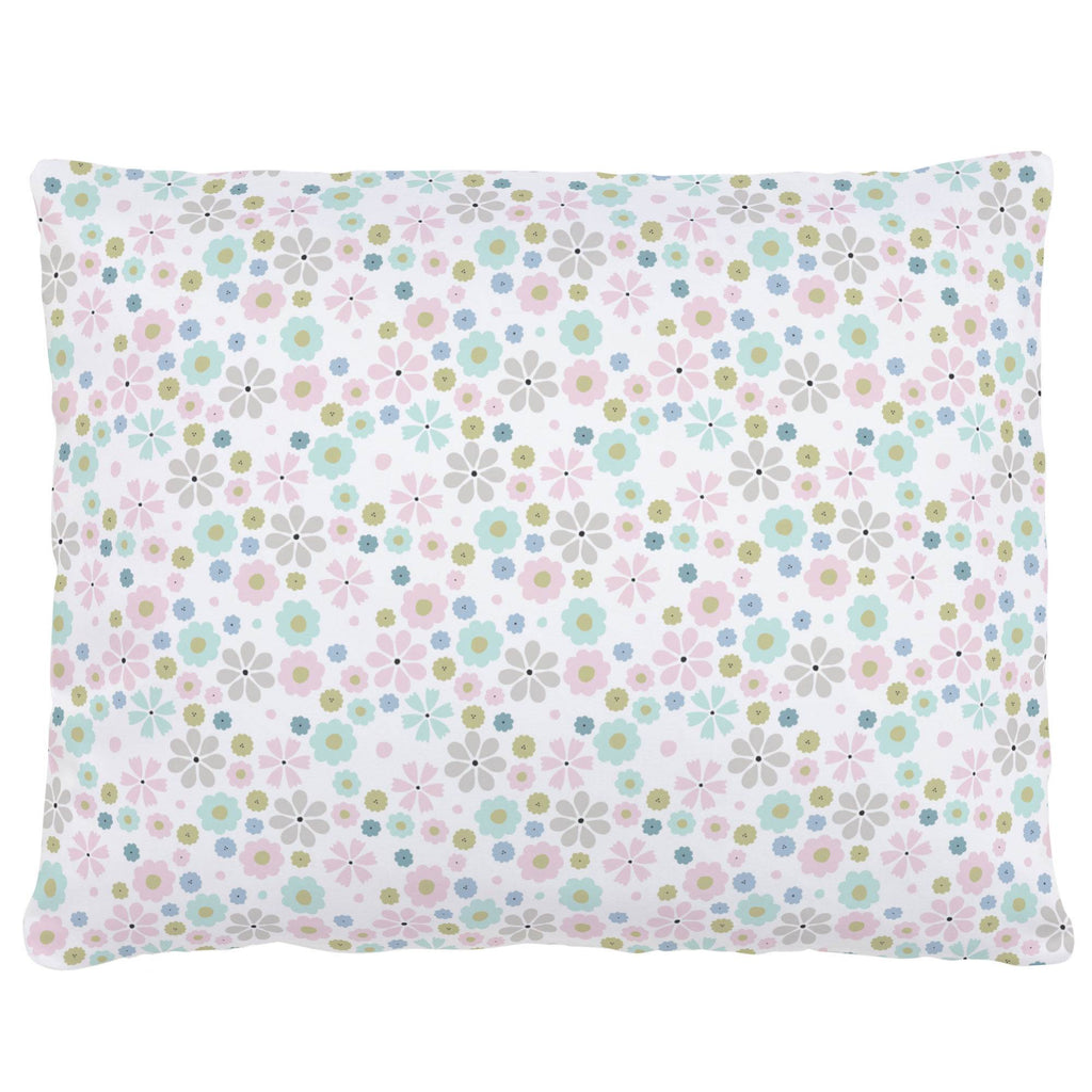 Product image for Pink Spring Flowers Accent Pillow