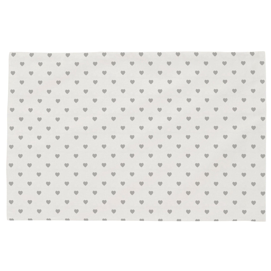 Product image for Gray Hearts Toddler Pillow Case