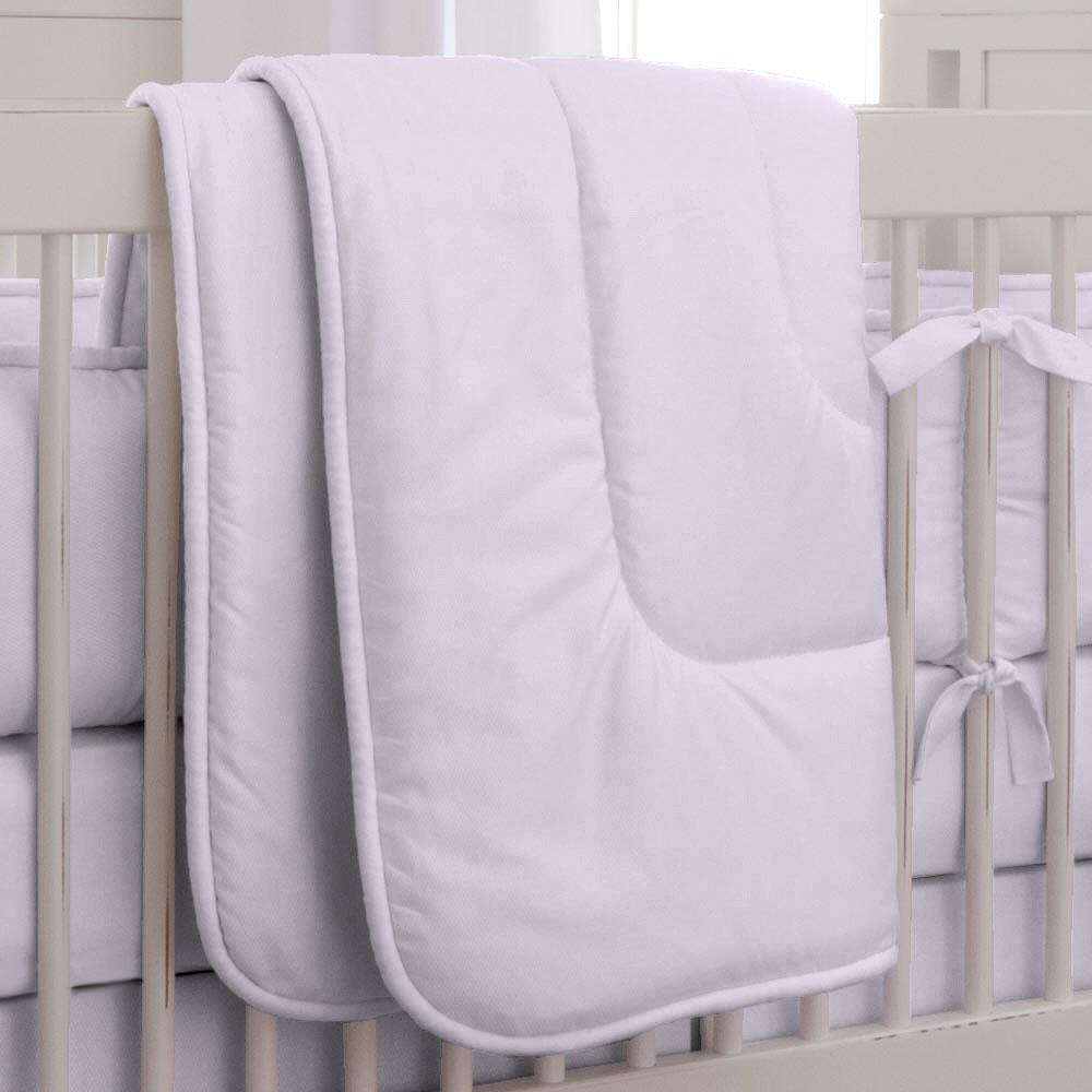 Product image for Solid Lilac Crib Comforter with Piping