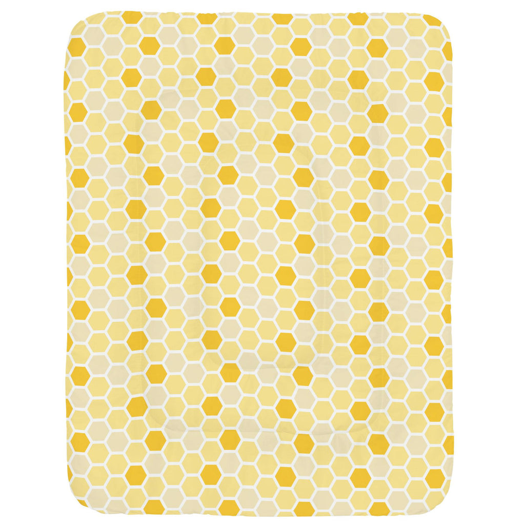 Product image for Yellow Honeycomb Crib Comforter