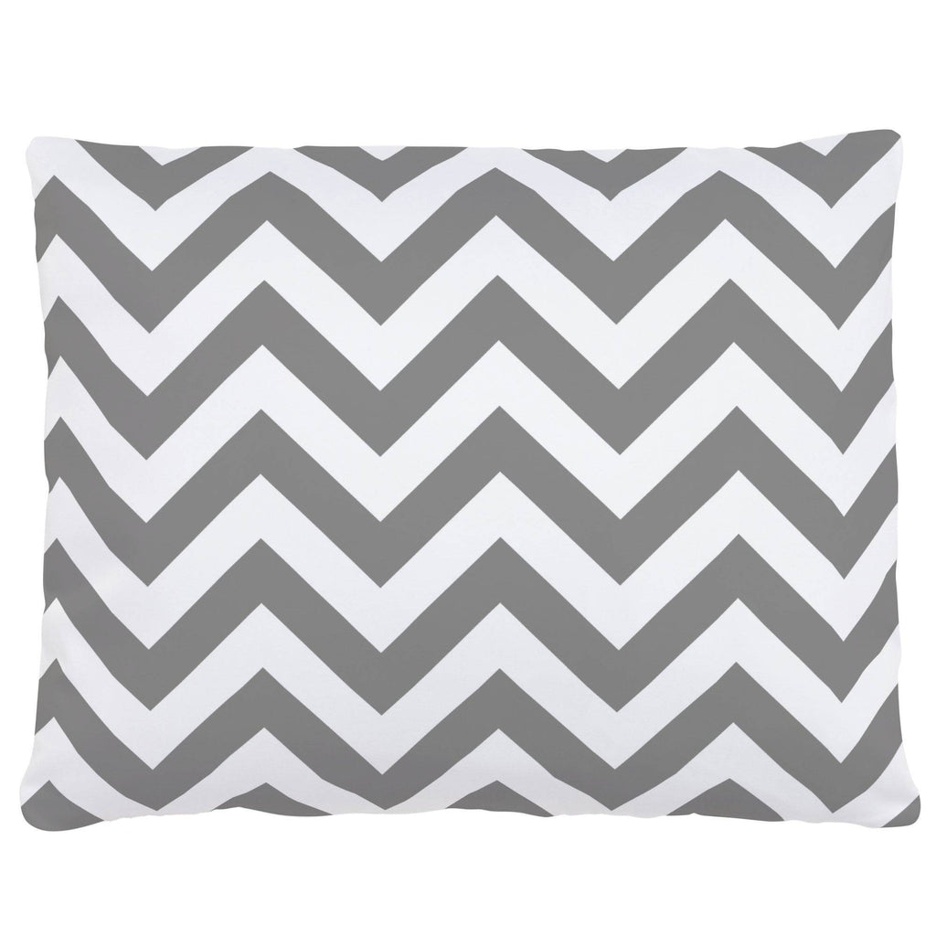 Product image for White and Gray Zig Zag Accent Pillow