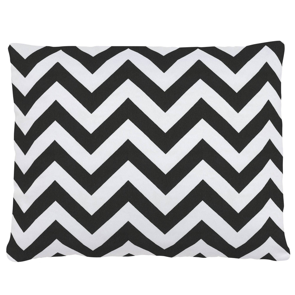 Product image for Black and White Zig Zag Accent Pillow