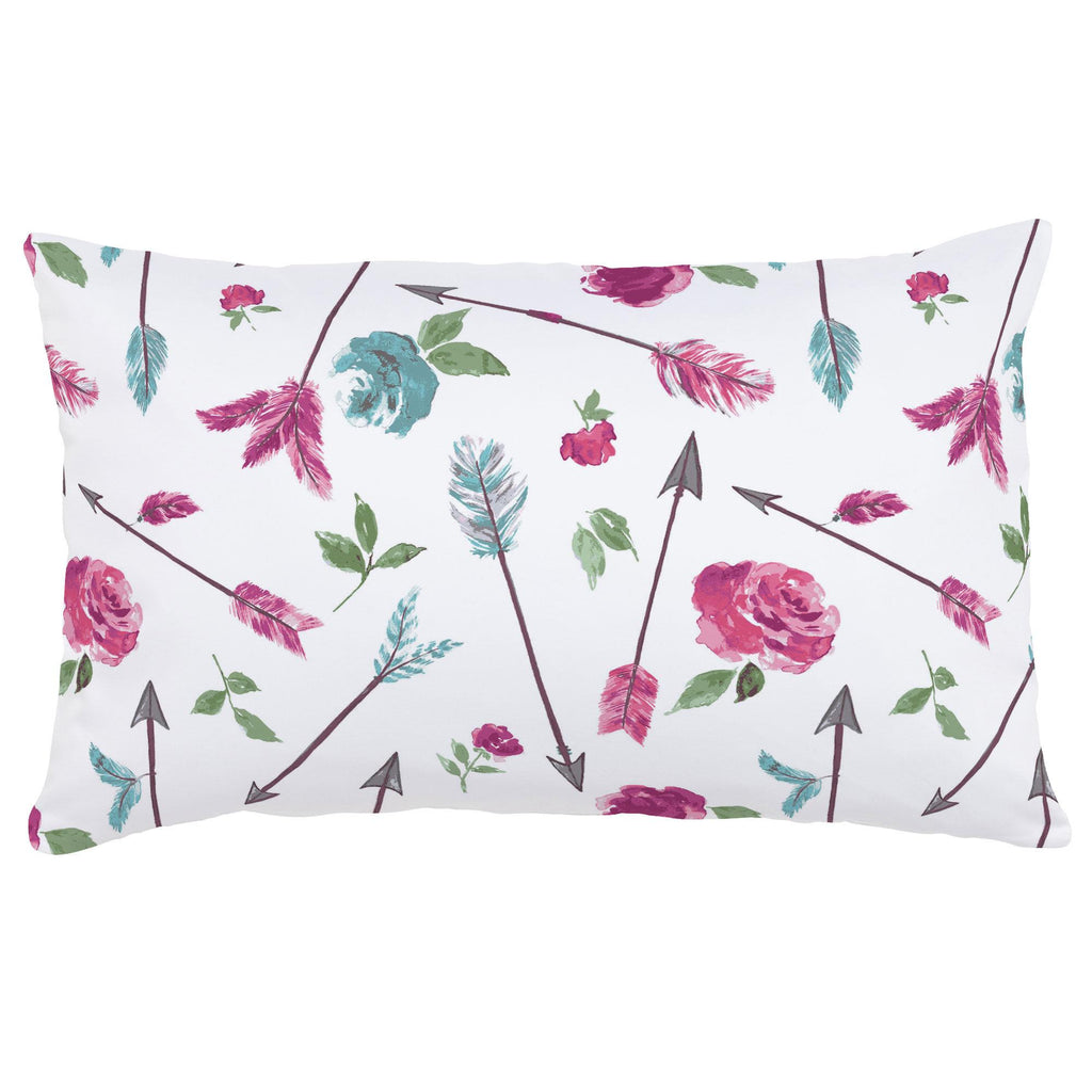 Product image for Floral Arrow Lumbar Pillow