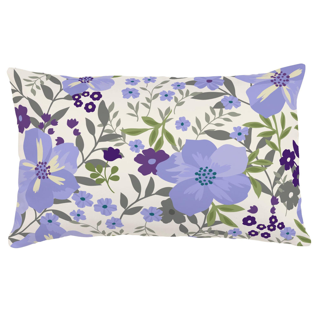 Product image for Lavender Floral Tropic Lumbar Pillow