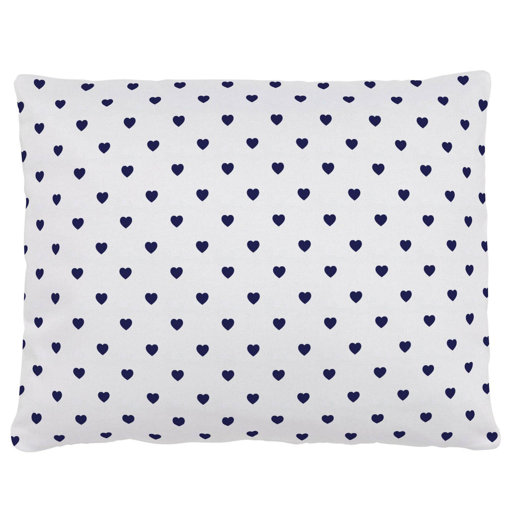Product image for Windsor Navy Hearts Accent Pillow