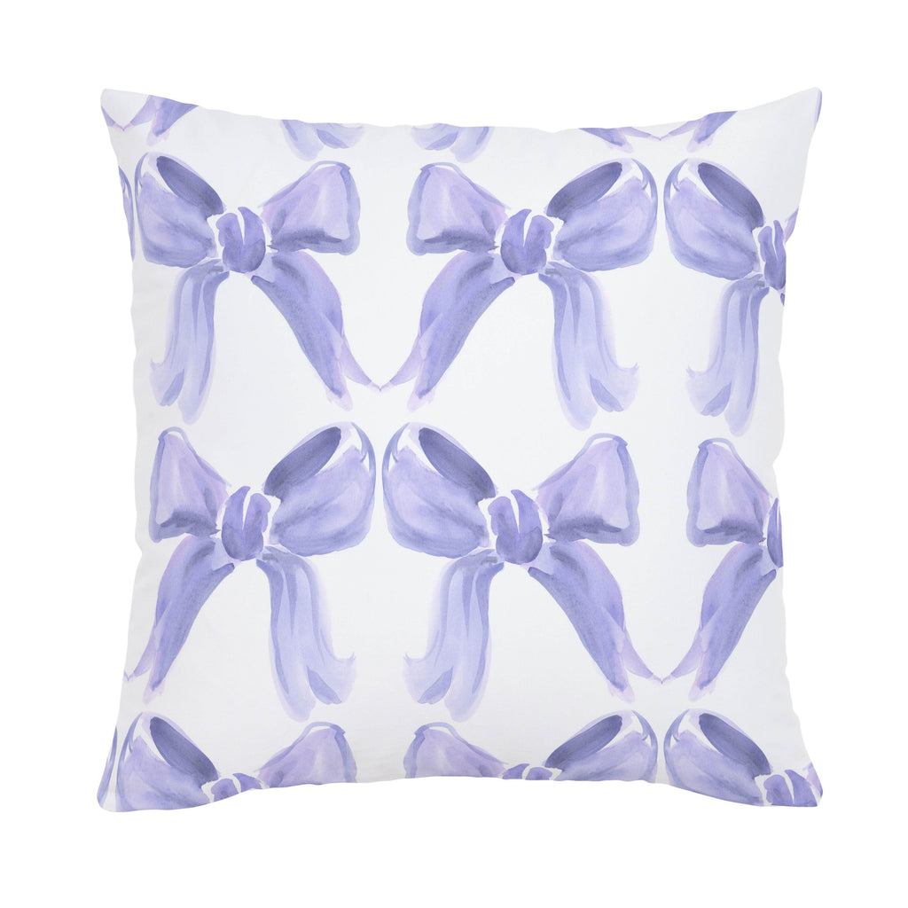 Product image for Lilac Watercolor Bows Throw Pillow