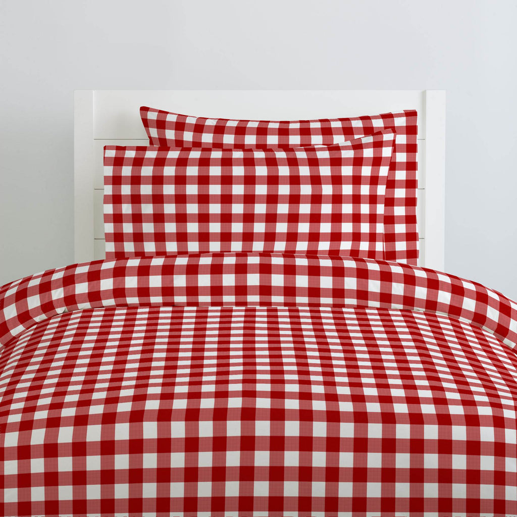Product image for Red Gingham Duvet Cover