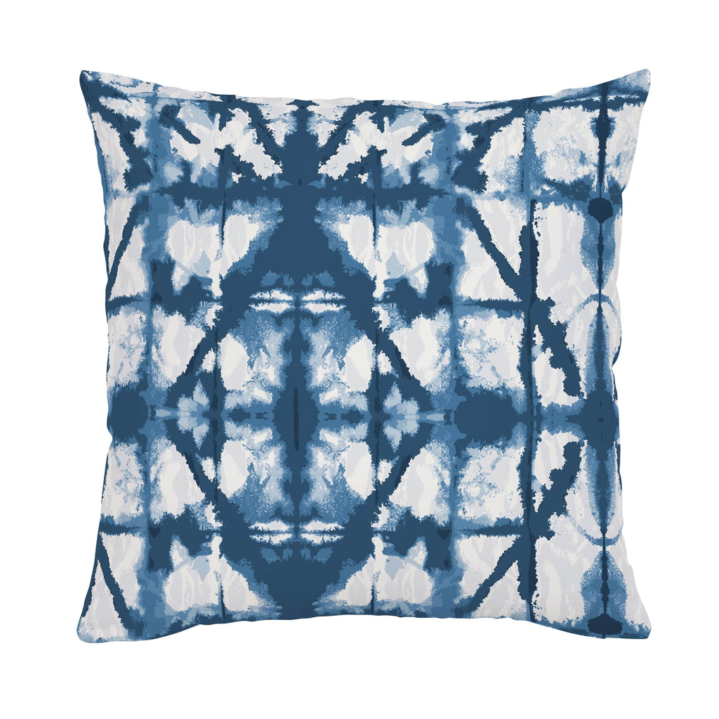Product image for Indigo Blue Shibori Throw Pillow