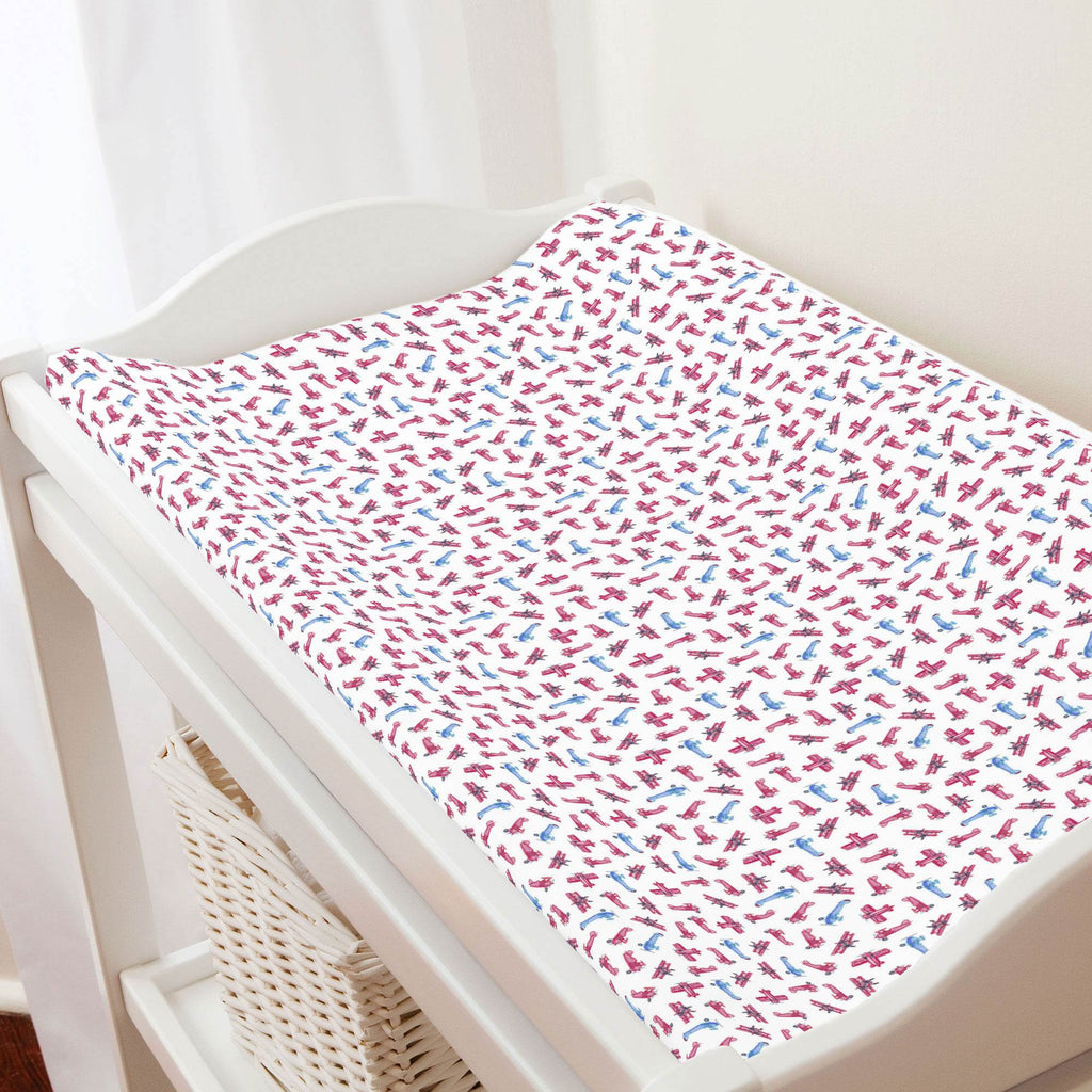 Product image for Tiny Airplanes Changing Pad Cover