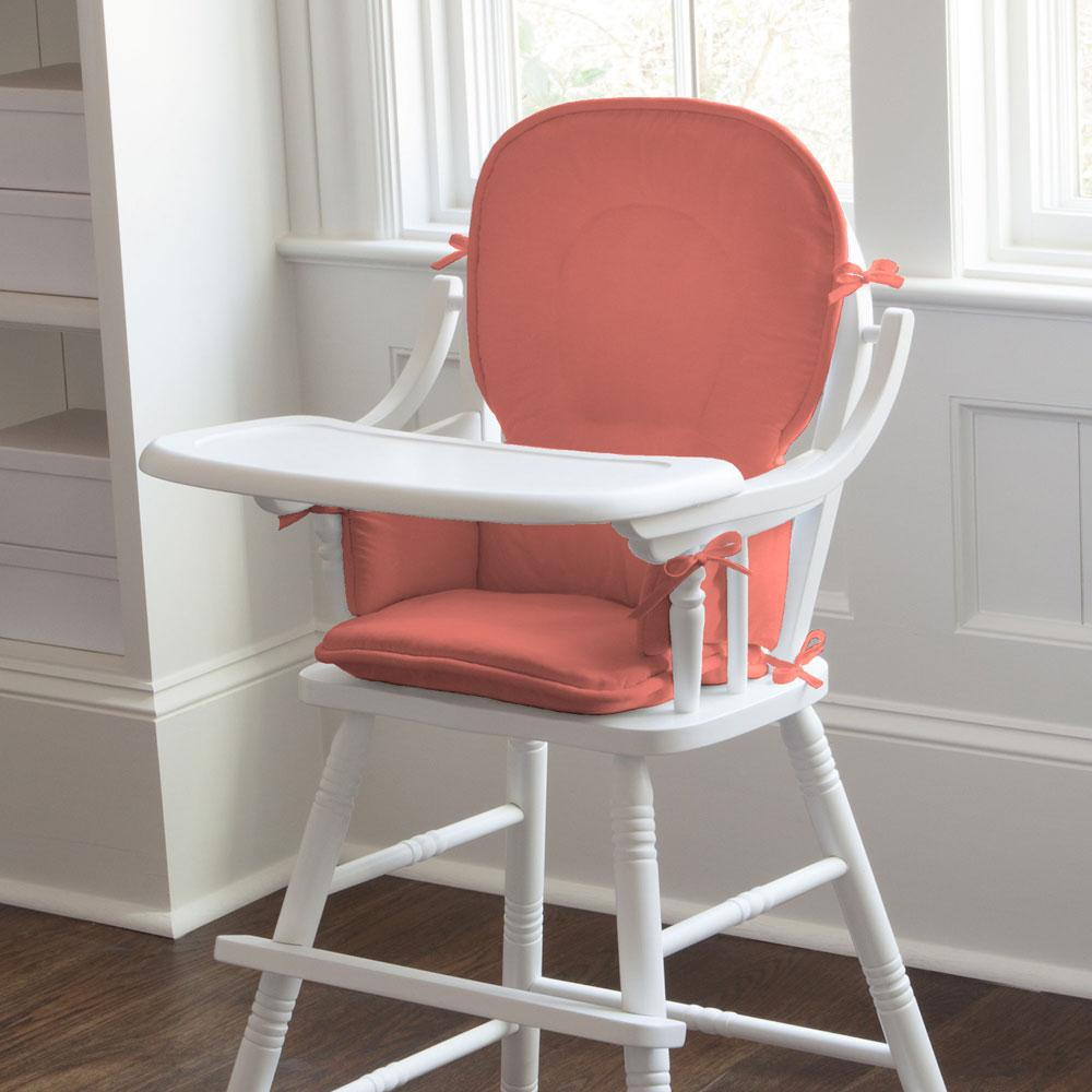 Product image for Solid Coral High Chair Pad