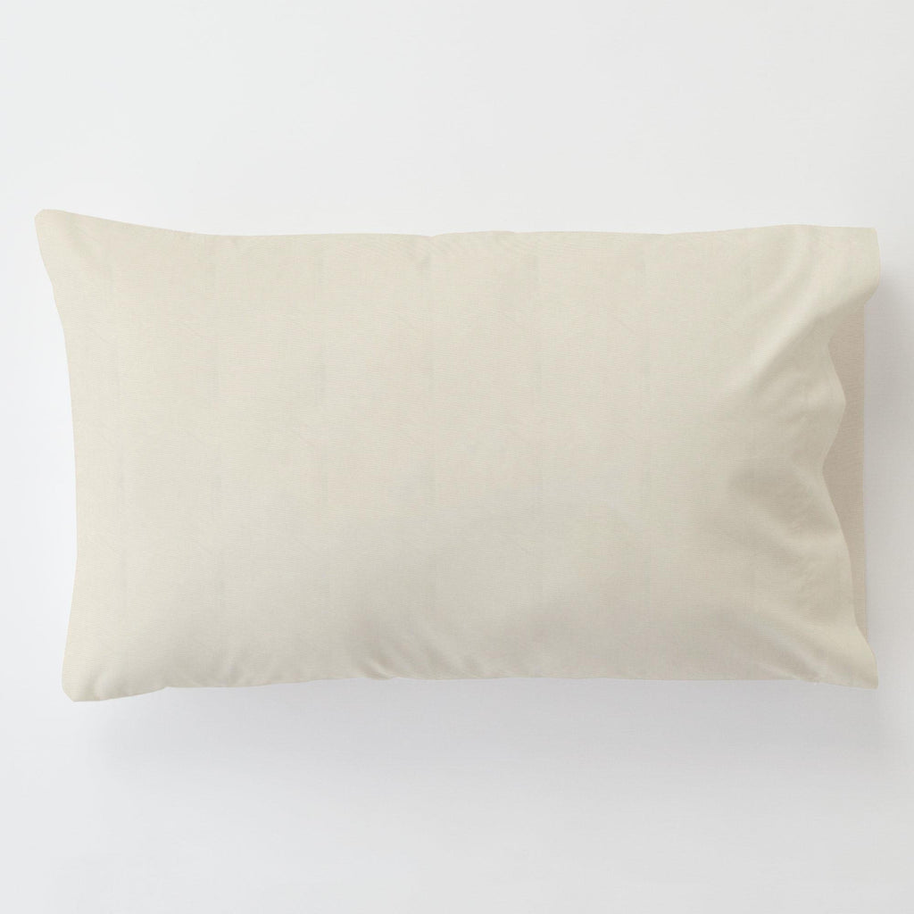 Product image for Solid Ivory Toddler Pillow Case with Pillow Insert