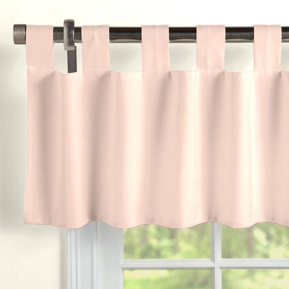 Product image for Solid Peach Window Valance Tab-Top