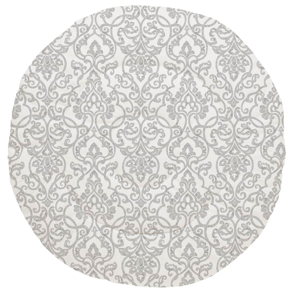 Product image for Gray Filigree Baby Play Mat