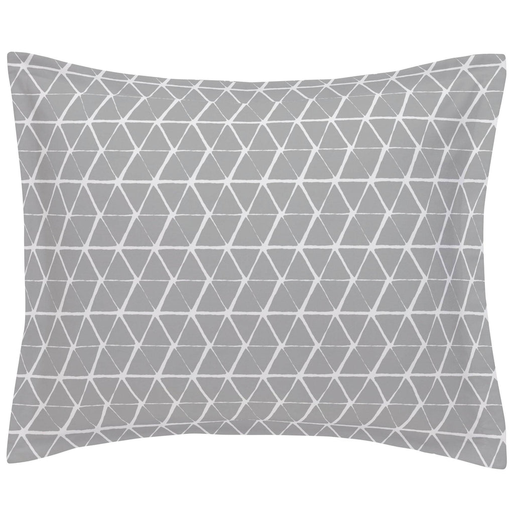Product image for Gray Aztec Triangles Pillow Sham