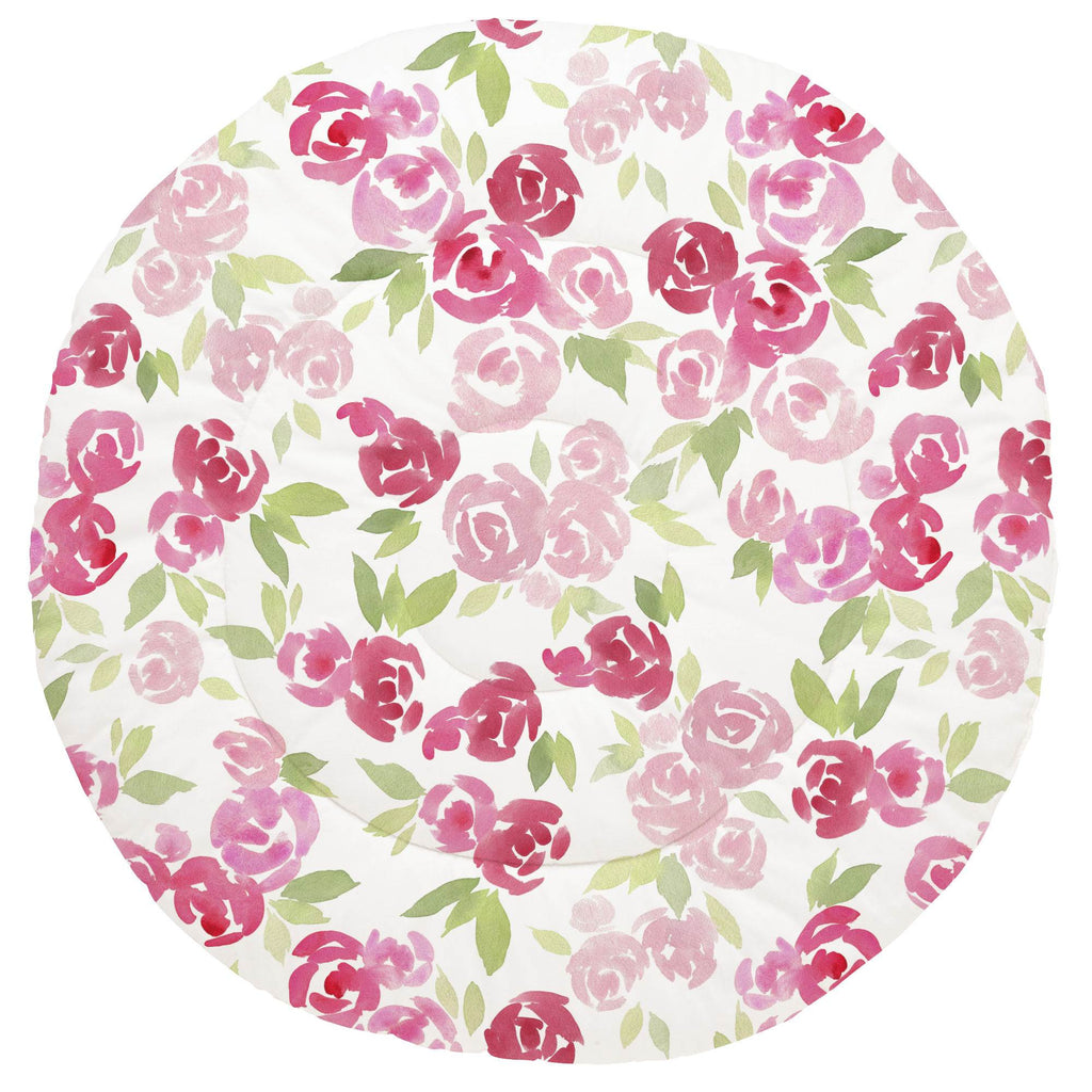Product image for Watercolor Roses Baby Play Mat