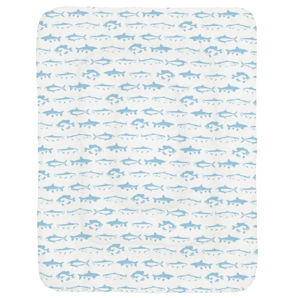 Product image for Lake Blue Fish Crib Comforter