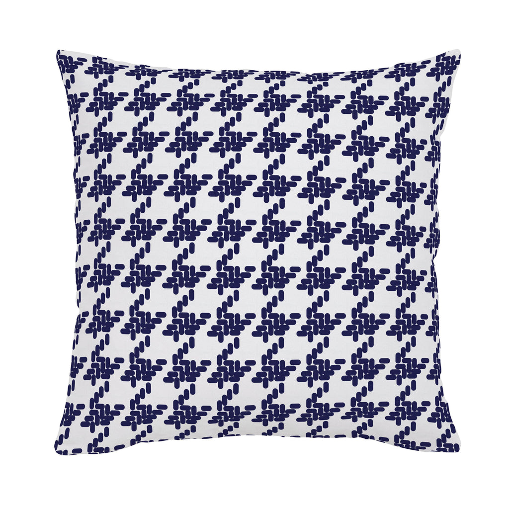 Product image for Windsor Navy Modern Houndstooth Throw Pillow
