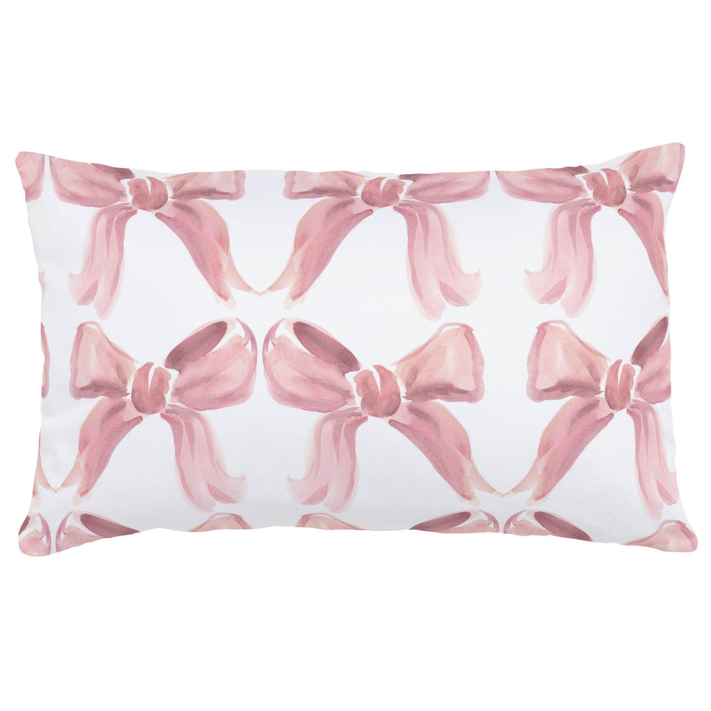 Product image for Pink Watercolor Bows Lumbar Pillow