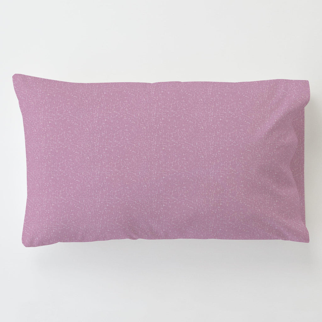 Product image for Amethyst Heather Toddler Pillow Case with Pillow Insert