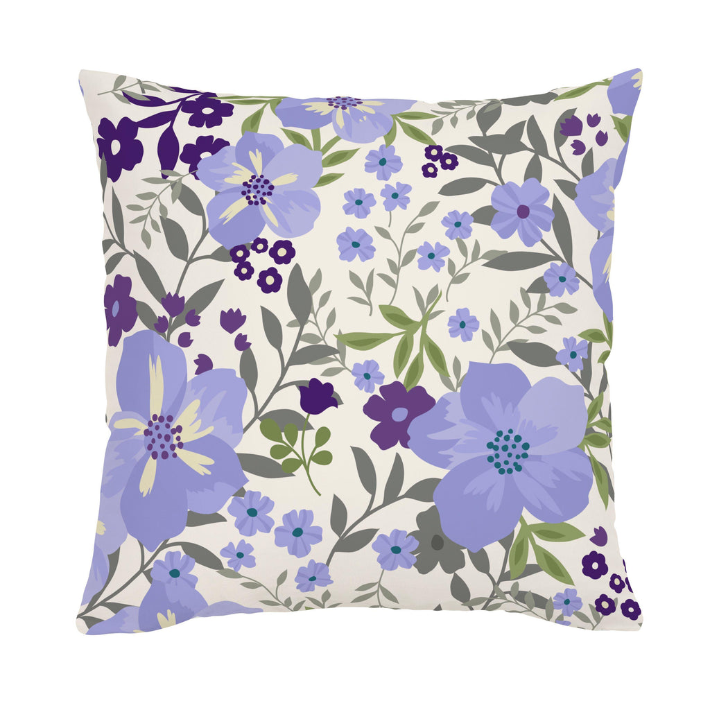 Product image for Lavender Floral Tropic Throw Pillow