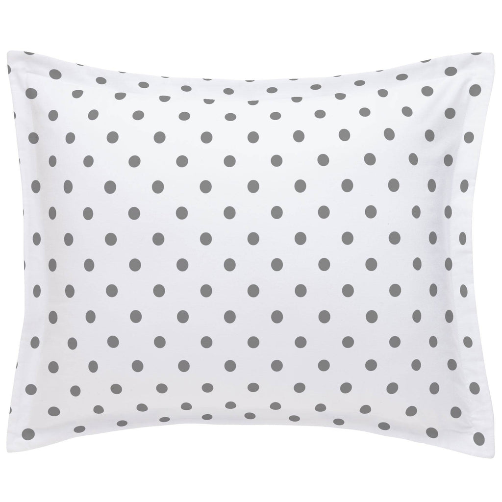 Product image for White and Gray Polka Dot Pillow Sham