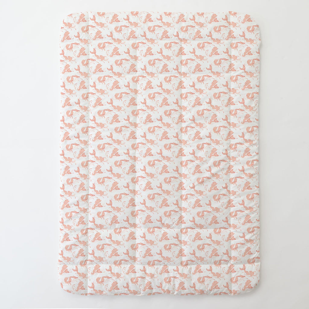 Product image for Peach Swimming Mermaids Toddler Comforter