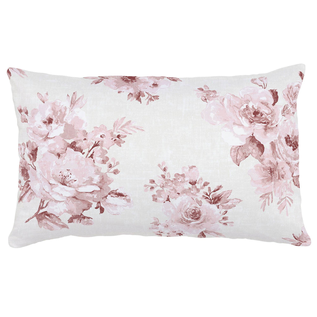 Product image for Rose Farmhouse Floral Lumbar Pillow
