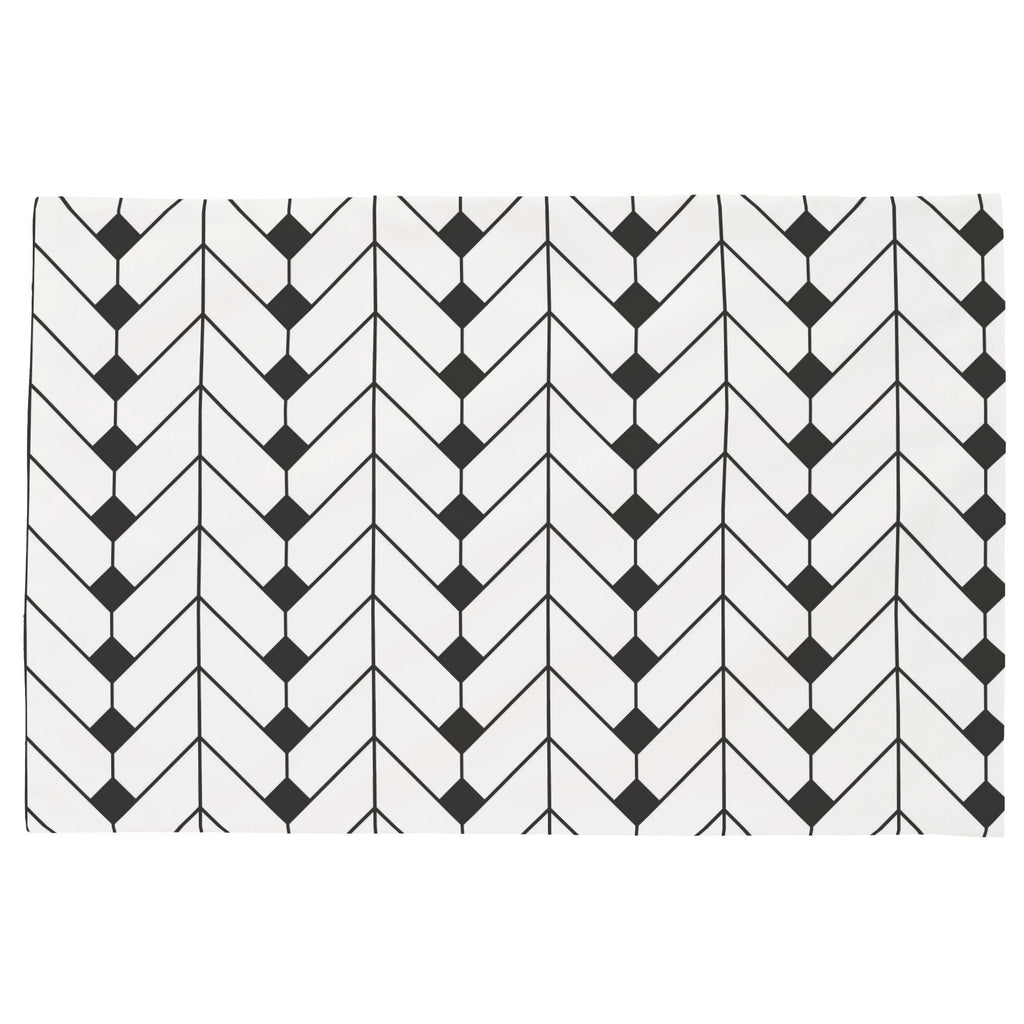 Product image for Charcoal Diamond Herringbone Toddler Pillow Case