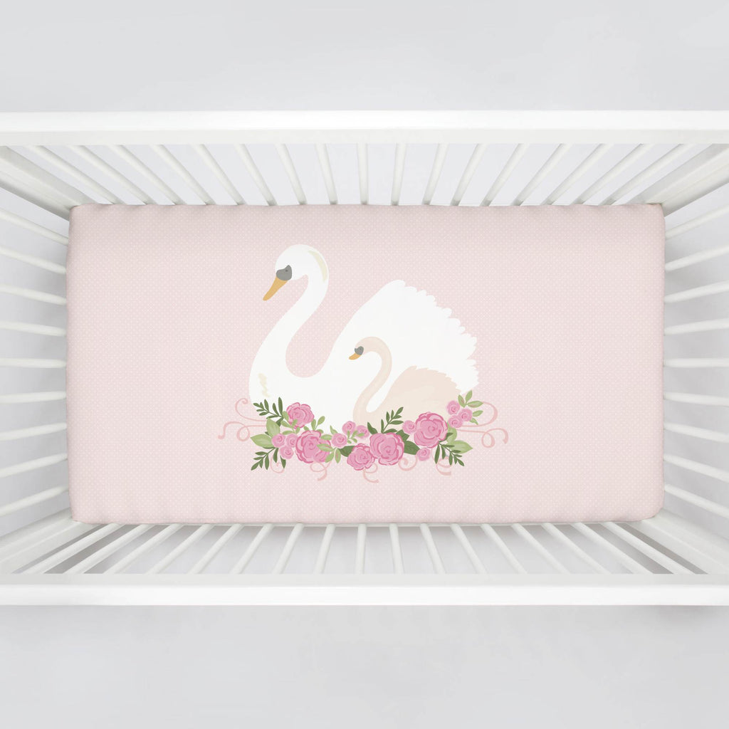 Product image for Swan Centerpiece Crib Sheet