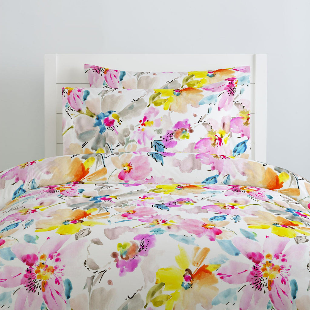 Product image for Watercolor Floral Duvet Cover