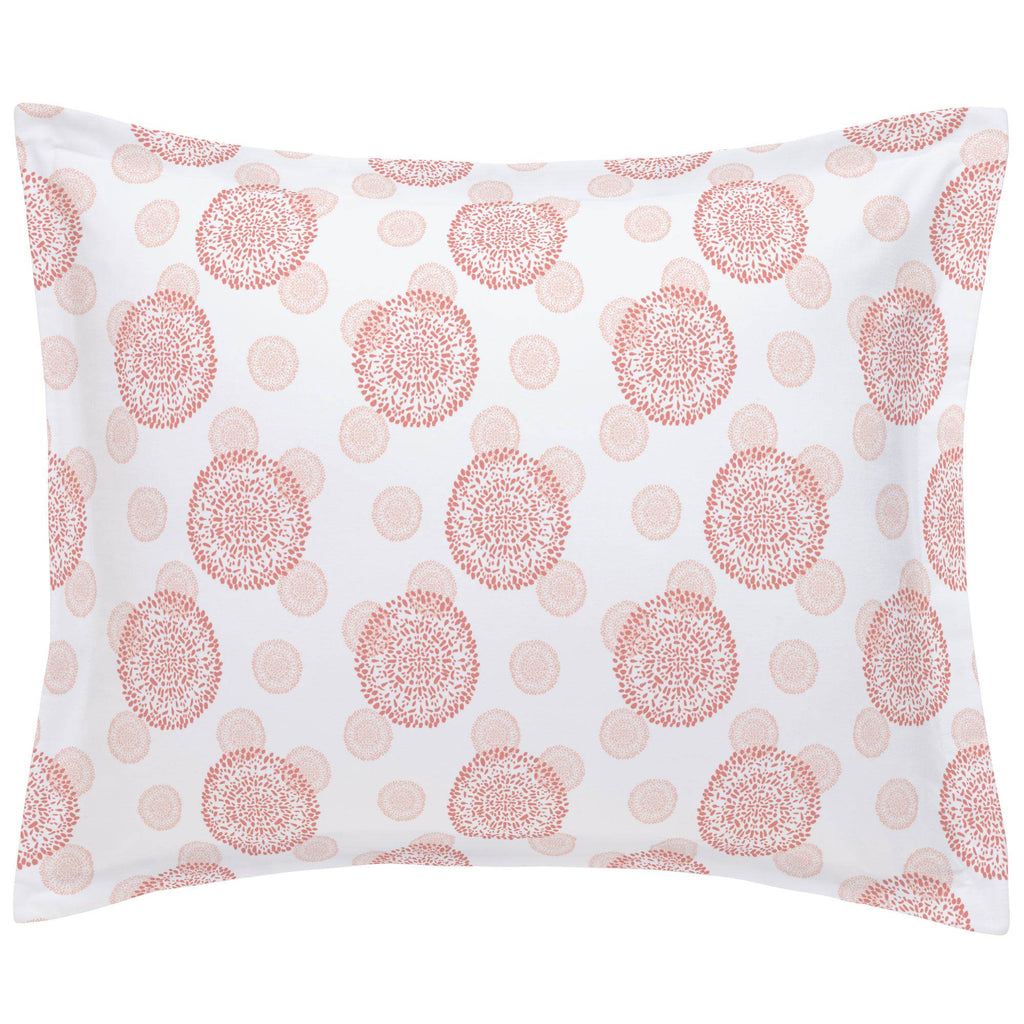Product image for Light Coral and Peach Dandelion Pillow Sham
