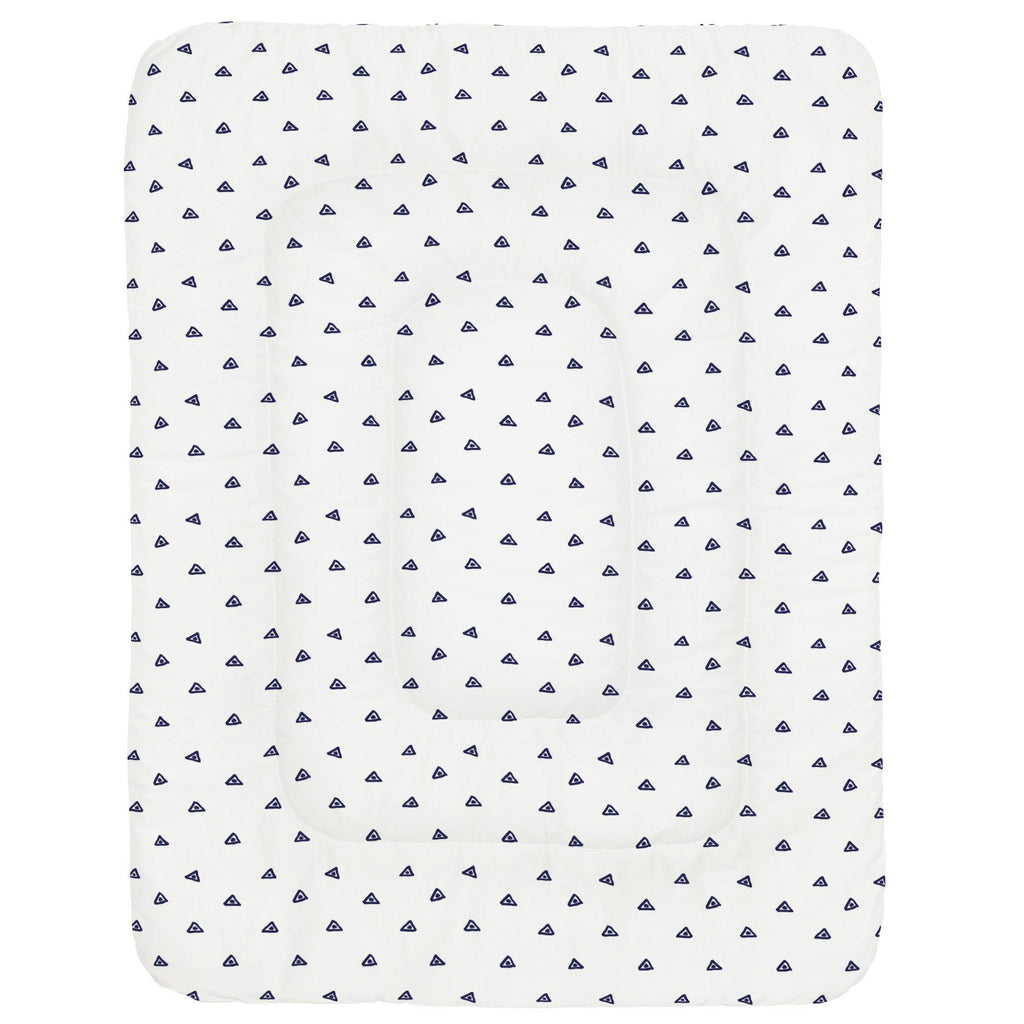 Product image for Navy Triangle Dots Crib Comforter
