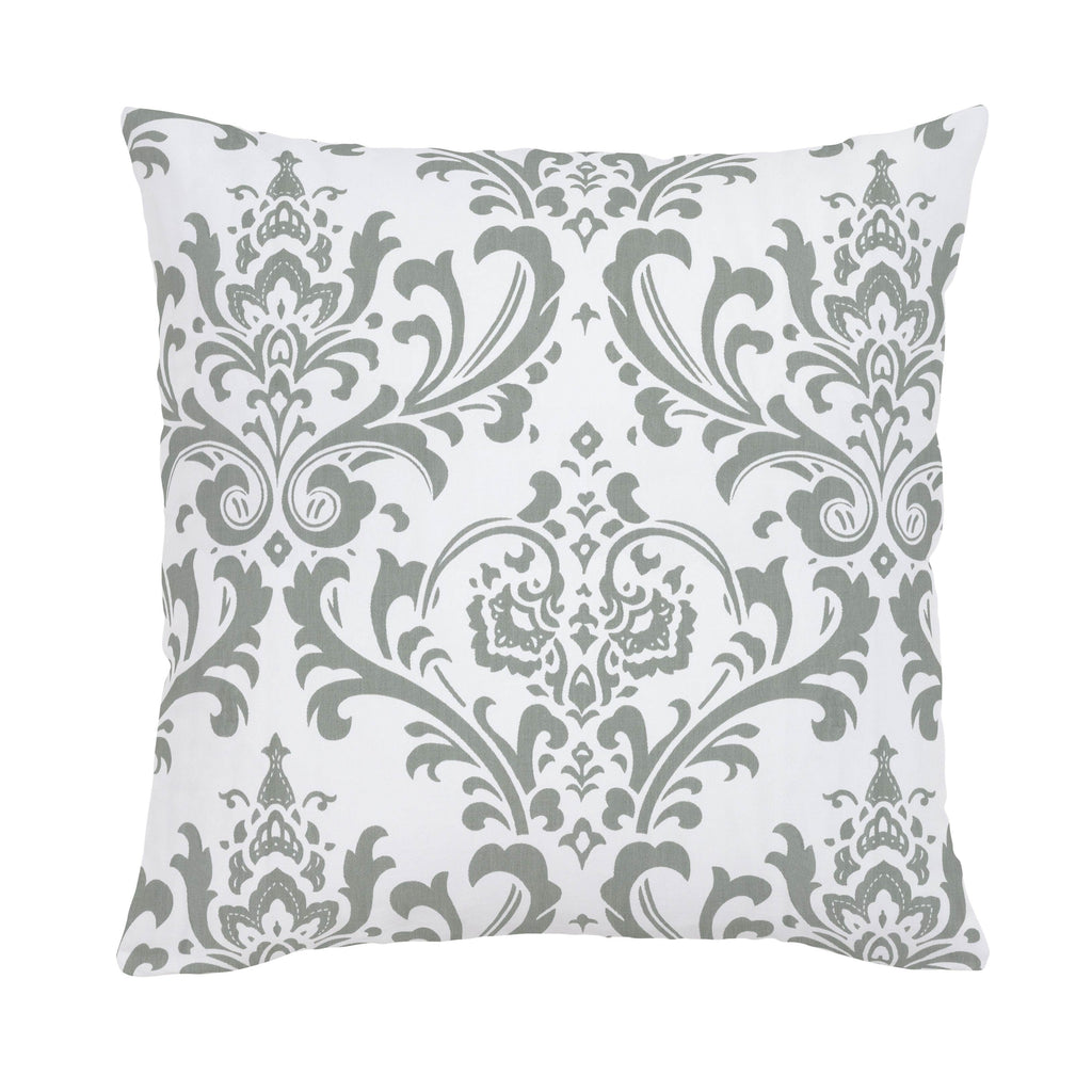 Product image for Gray Traditions Damask Throw Pillow