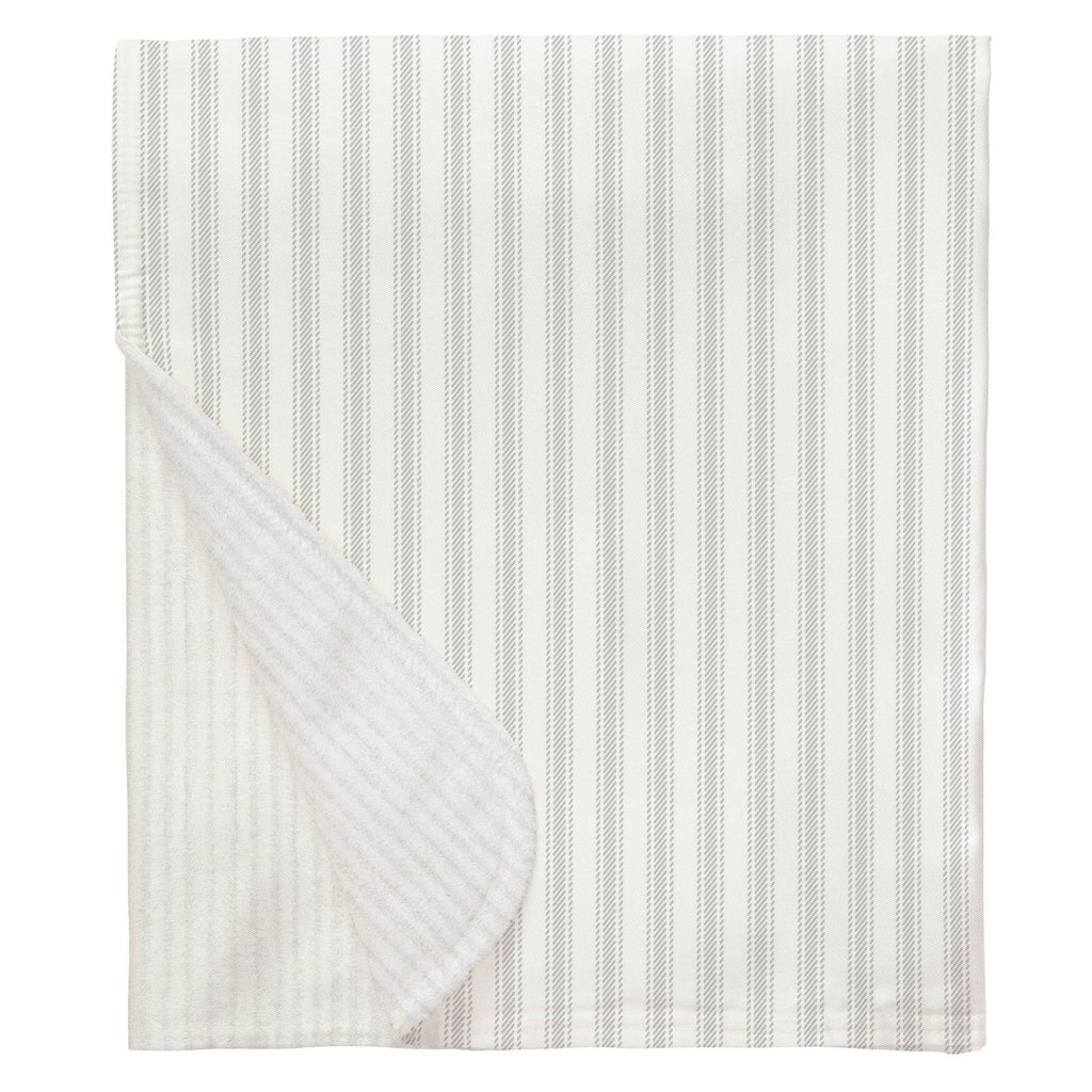Product image for French Gray Ticking Stripe Baby Blanket