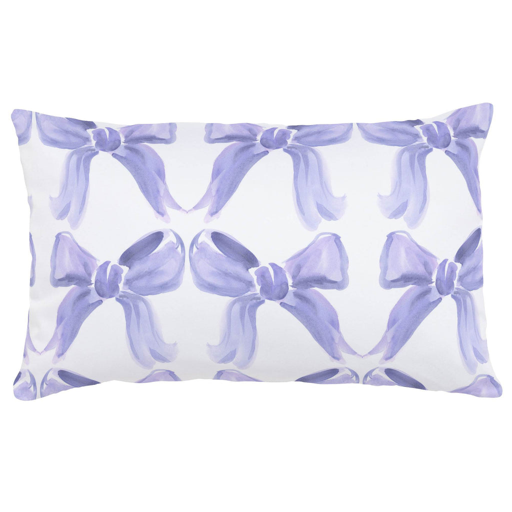 Product image for Lilac Watercolor Bows Lumbar Pillow