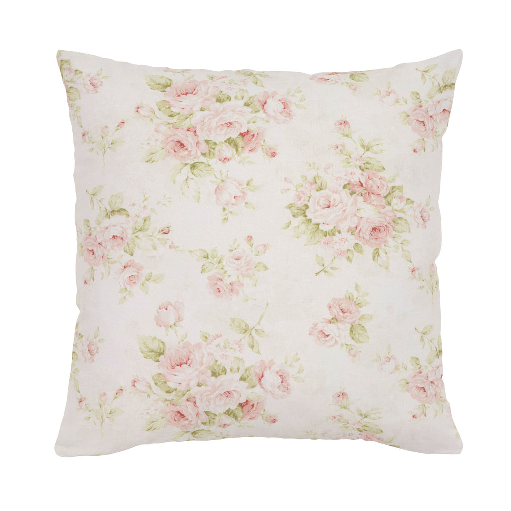 Product image for Pink Floral Throw Pillow