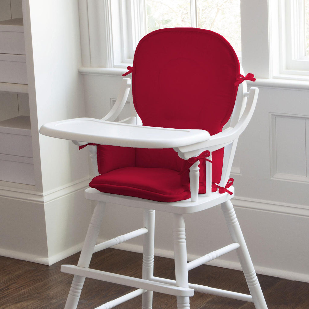 Product image for Solid Red High Chair Pad