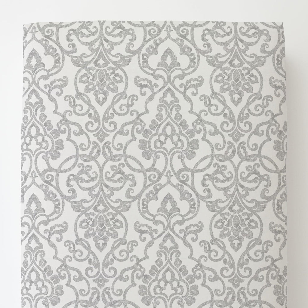 Product image for Gray Filigree Toddler Sheet Bottom Fitted