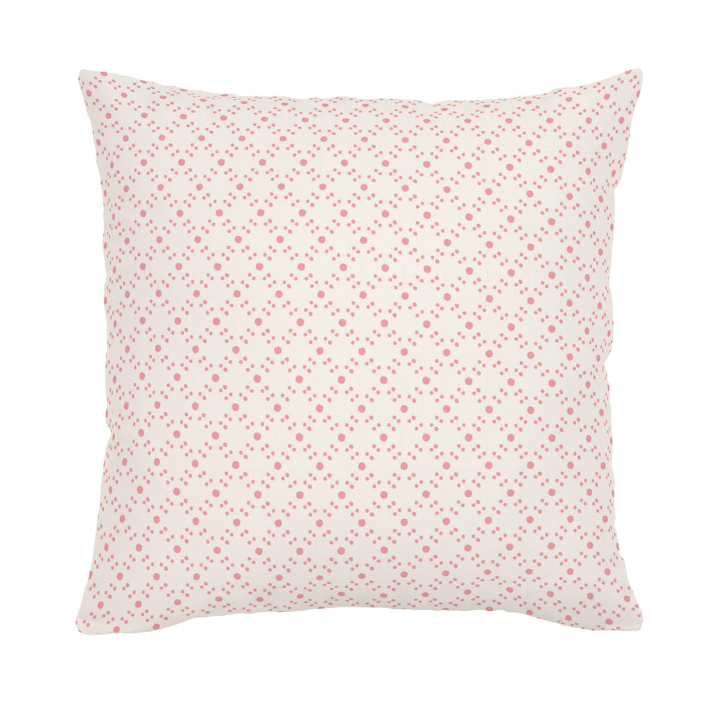 Product image for Coral Pink Lattice Dots Throw Pillow